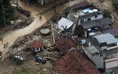 Brezilyada sel suları 270 can aldı galerisi resim 9