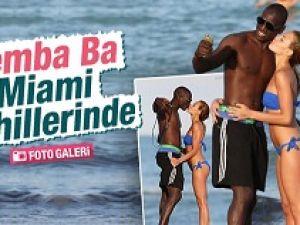 Demba Ba Miami sahillerinde görüntülendi