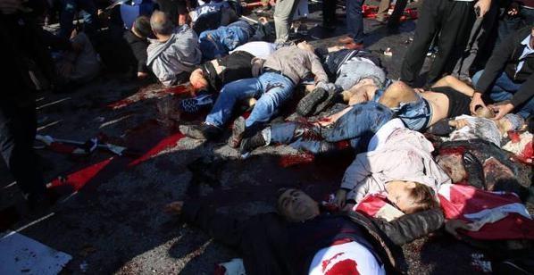 Ankara'da bomba patladı: 95 can kaybı galerisi resim 1