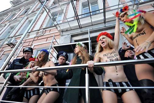 Ukraynada FEMEN Protestoları galerisi resim 1