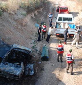 Karacabeyde kaza: 5 kişi diri diri yandı