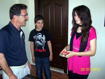 Kurşunlu Belediye Başkanı Doğu, başarılı öğrenciyi ödüllendirdi
