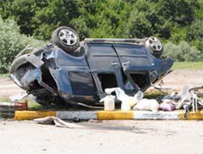 Takla atan araçta 1 kişi hayatını kaybetti
