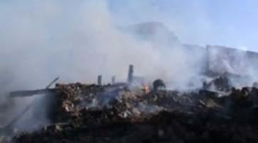 Dağovacık köyünde çıkan yangın korkuttu