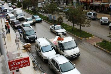 Çankırı Merkezde otopark olmayan cadde ve sokak kalmadı!