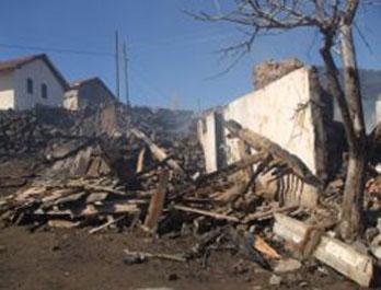 Çerkeşe bağlı Belkavak köyünde korkutan yangın!