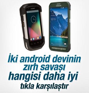 Samsung Galaxy S5 Active ve Motorola Symbol TC70 karşılaştırması