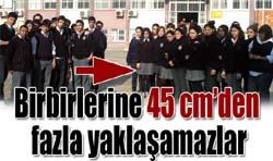 Lisede kız erkek yakınlaşmasına 45 cm uygulaması