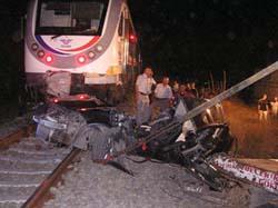 Kahramanmaraşta tren faciası: 3 ölü