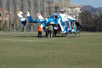 Hava ambulansıyla 3 saatte Ankara yolculuğu!