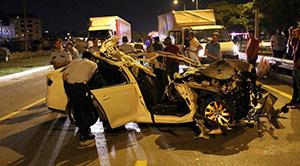 Bursa'da düğün dönüşü feci kaza: 3 ölü, 2 yaralı