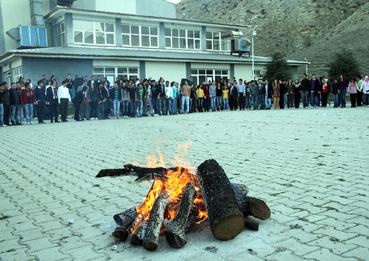 Nevruz ateşi Çankırı'da yandı!