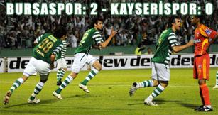 Bursaspor kendi evinde Kayserisporu 2-0la geçti