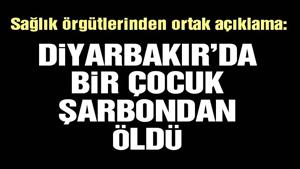 Diyarbakır'daki çocuk ölümü için şarbon iddiası