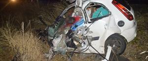 Ağrı'da kaza: 2 ölü, 1 yaralı