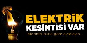 Ilgaz ve Kızılırmak'da Cumartesi günü elektrik kesintisi!