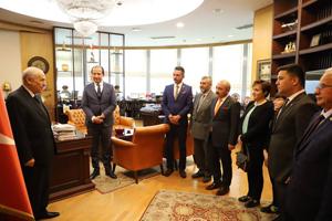 Başkan Esen, MHP lideri Bahçeli'yi ziyaret etti