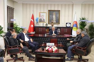 ÇATSO Başkanı Çelikten'den Belediye Başkanı Esen'e ziyeret