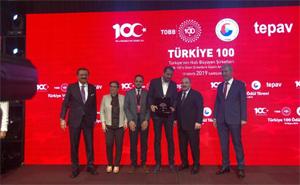 """Nevi Mobilya, """"Türkiye'nin En Hızlı Gelişen İlk 100 Şirketi"""" ödülünü aldı"""