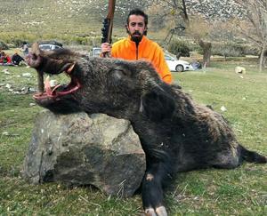 Domuz avcısı feci şekilde öldü!