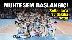 Türkiye A Milli Kadın Voleybol Takımı, Yunanistan'a set vermedi!