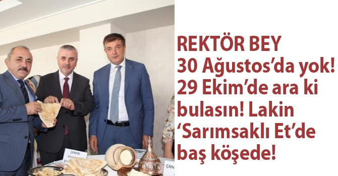 30 Ağustos Zafer Bayramı'nda yok! 29 Ekim'de yok! Lakin 'sarımsaklı et' organizasyonunda baş köşede!
