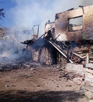 Eldivan/Akbulut köyünde yangın