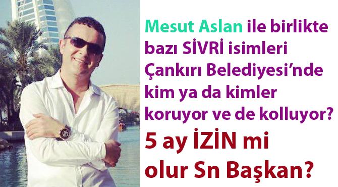 Mesut Aslan ile birlikte bazı sivri isimleri Çankırı Belediyesi'nde kim koruyor?