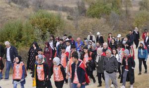 Çankırılılar Vakfı, 100 öğrenci ile İstiklal Yolu yürüyüşünde