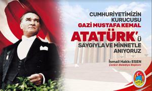 Çankırı Belediye Başkanı Esen'in 10 Kasım Atatürk'ü anma mesajı