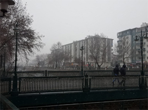 Çankırı karla birlikte beyaza büründü