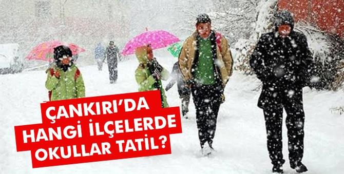 Çankırı'da okullar tatil mi? Hangi ilçelerde kar tatili var?