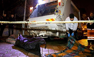Samsun'da çöp kamyonunda erkek cesedi bulundu