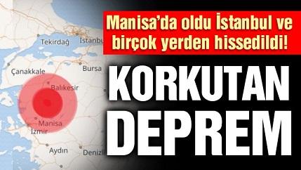 Akhisar'da korkutan deprem! İstanbul ve İzmir'de de hissedildi!