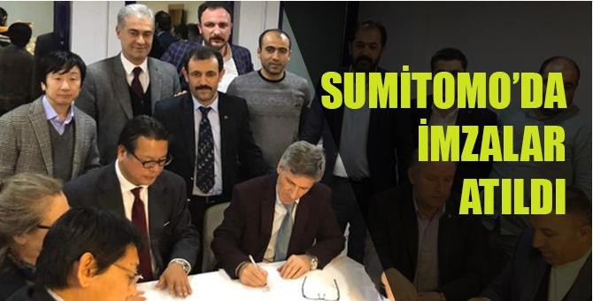 Sumitomo'da işçi-işveren uzlaştı ve bin 600 işçiyi kapsayan toplu iş sözleşmesi imzalandı