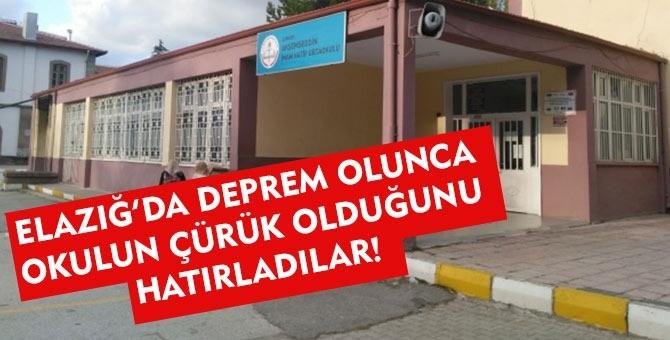 Çankırı'da bir okul 'depreme dayanıklı değil' kararı ile eğitim-öğretime kapatıldı!