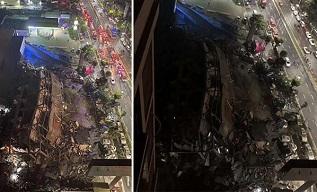 Çin'de koronavirüs karantina binası çöktü: 70 Kişi enkaz altında