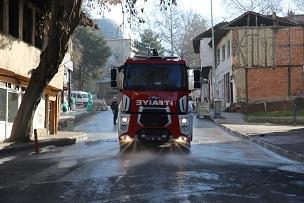 Çankırı'da belediyenin temizlik seferberliği tam gaz devam ediyor