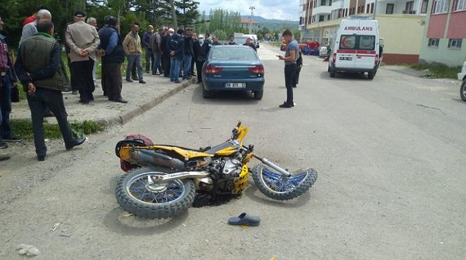 Çerkeş'de kaza! Motosiklet sürücüsü ağır yaralı