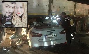 Adana'da kaza! Genç çift feci şekilde can verdi
