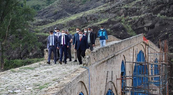 Çankırı'nın yeni valisi Ayaz, Ilgaz ve Çerkeş'de incelemelerde bulundu