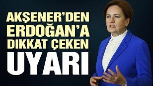 """Akşener'den Erdoğan'a """"Z Kuşağı"""" uyarısı"""