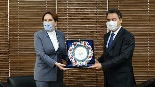 Meral Akşener'den Ali Babacan'a ziyaret
