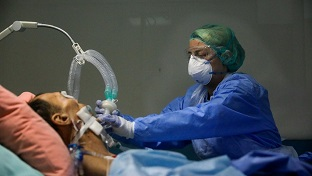 Çankırı Devlet Hastanesi'nde koronalı hastaların umudu solunum cihazlarında yeterli oksijen yok