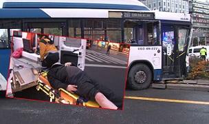 Ankara'da otobüs kazası! Yaralılar var