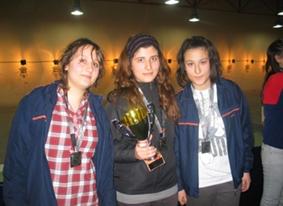 Genç bayan atıcılarımız Türkiye ikincisi oldular