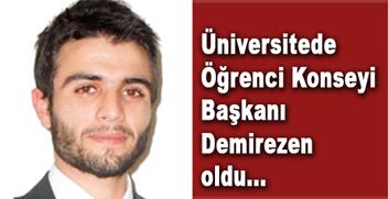 Üniversitede Öğrenci Konseyi Başkanı seçildi