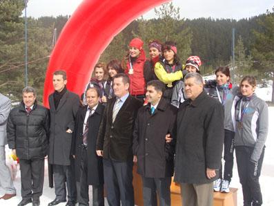 Üniversiteler Arası Kayak Koşu Yarışları sona erdi