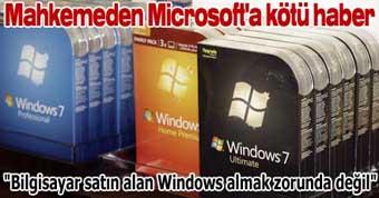 Mahkemeden Microsoft'a kötü haber