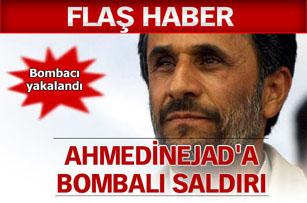 Ahmedinejadın konvoyuna saldırı!